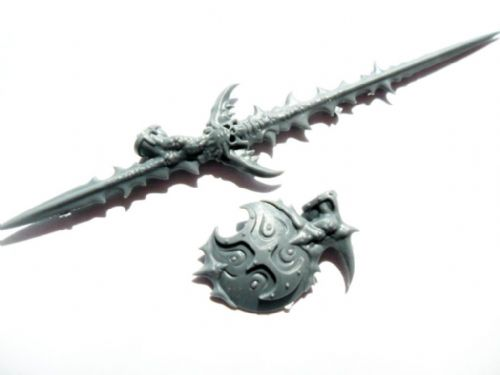 chaos hellstrider champion spear and shield arms